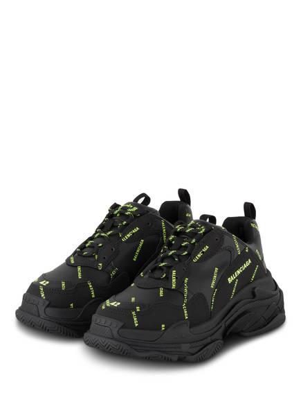 BALENCIAGA Sneaker TRIPLE S, Farbe: SCHWARZ/ NEON GELB (Bild 1)