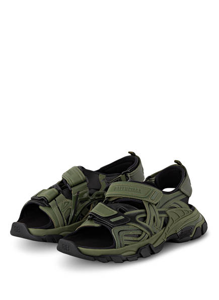BALENCIAGA Sandalen TRACK, Farbe: OLIV/ SCHWARZ (Bild 1)