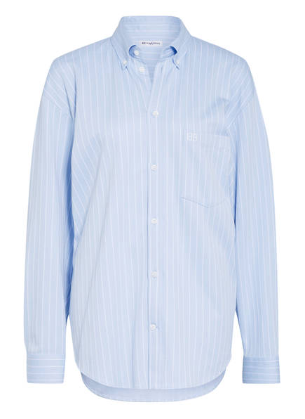 BALENCIAGA Oversized-Hemdbluse, Farbe: HELLBLAU/ WEISS GESTREIFT (Bild 1)