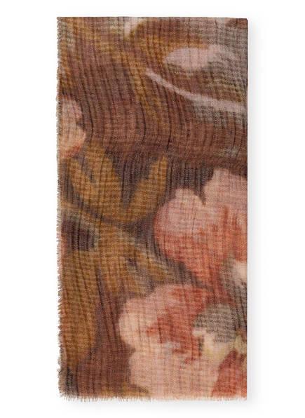 LUISA CERANO Tuch mit Seide , Farbe: HELLBRAUN/ HELLROSA (Bild 1)