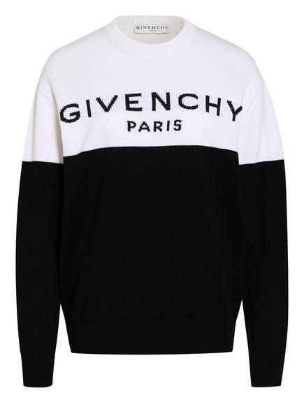 GIVENCHY Cashmere-Pullover, Farbe: WEISS/ SCHWARZ (Bild 1)