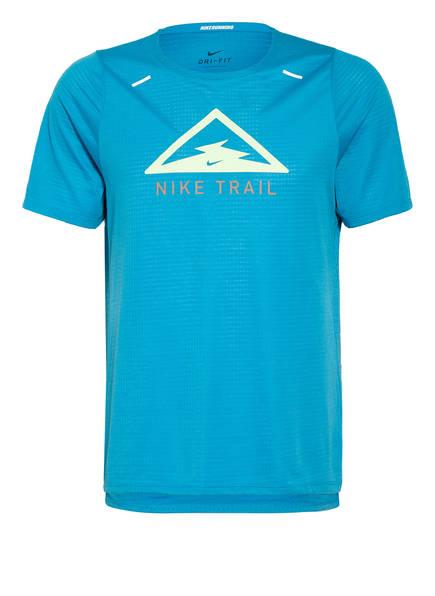 Nike Laufshirt RISE 365 TRAIL, Farbe: TÜRKIS (Bild 1)