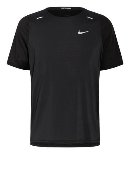Nike Laufshirt BREATHE RISE 365, Farbe: SCHWARZ (Bild 1)