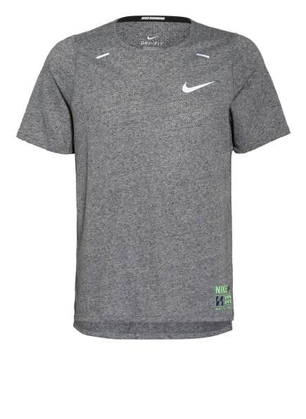 Nike Laufshirt RISE 365 FUTURE FAST, Farbe: GRAU MELIERT (Bild 1)