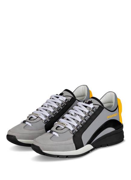 DSQUARED2 Sneaker 551, Farbe: GRAU/ SCHWARZ/ GELB (Bild 1)