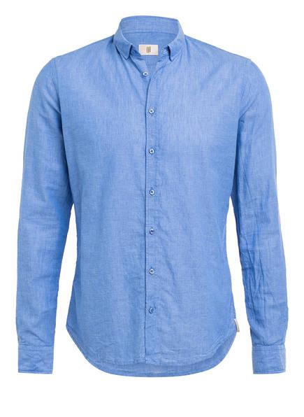 Q1 Manufaktur Hemd SANDRO Slim Fit mit Leinen, Farbe: BLAU (Bild 1)