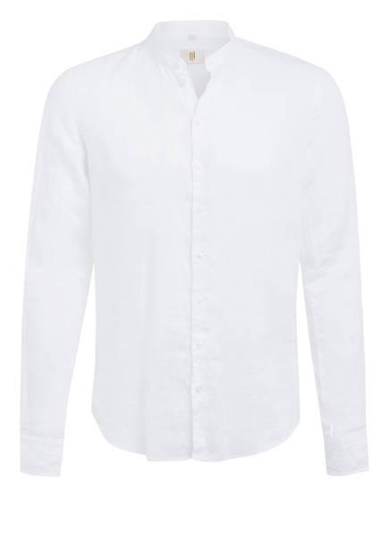Q1 Manufaktur Leinenhemd RENÉ Extra Slim Fit mit Stehkragen, Farbe: WEISS (Bild 1)