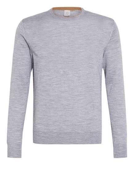 eleventy Pullover mit Seide, Farbe: GRAU MELIERT (Bild 1)