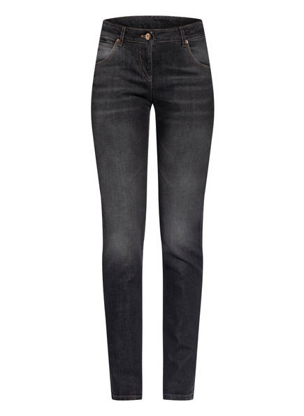 BRUNELLO CUCINELLI Skinny Jeans mit Perlenbesatz, Farbe: C7792 LAV. NERO SCURO (Bild 1)
