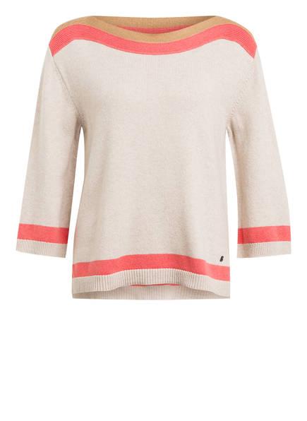BOGNER Pullover ANNINA mit 3/4-Arm, Farbe: BEIGE/ HELLROT/ HELLBRAUN (Bild 1)