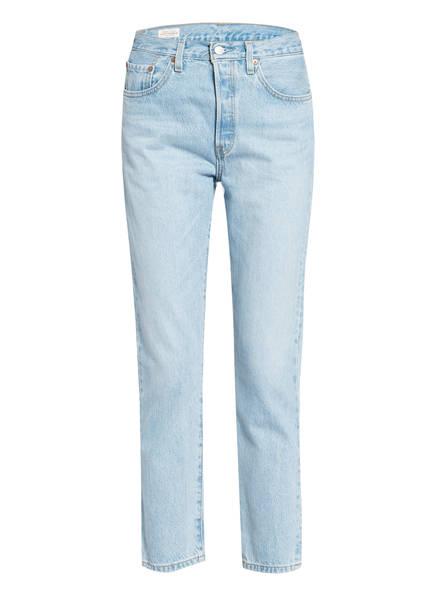 Levi's® Jeans 501 CROP , Farbe: 24 MED INDIGO - WORN IN LIGHT BLUE (Bild 1)