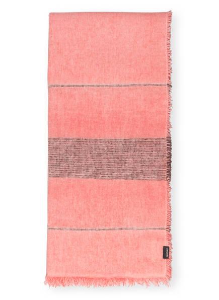 PROFLAX Plaid MAVIE, Farbe: HELLROT/ DUNKELGRAU (Bild 1)