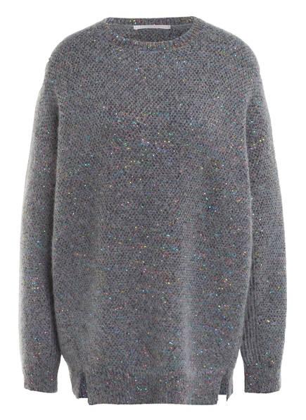 STELLA McCARTNEY Oversized-Pullover mit Pailletten, Farbe: GRAU (Bild 1)
