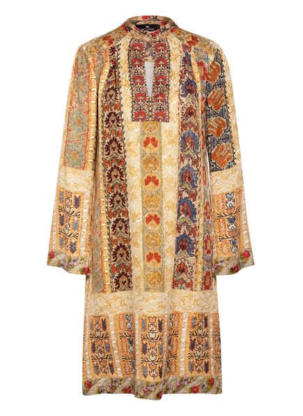 ETRO Kleid mit Seide, Farbe: DUNKELGELB/ COGNAC/ WEISS (Bild 1)