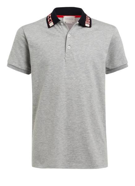 GUCCI Piqué-Poloshirt, Farbe: HELLGRAU MELIERT (Bild 1)