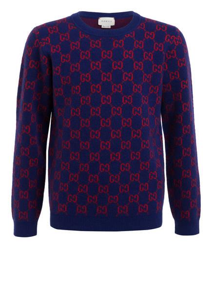 GUCCI Pullover, Farbe: BLAU/ ROT (Bild 1)