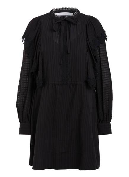 SEE BY CHLOÉ Kleid mit Spitzenbesatz , Farbe: SCHWARZ (Bild 1)