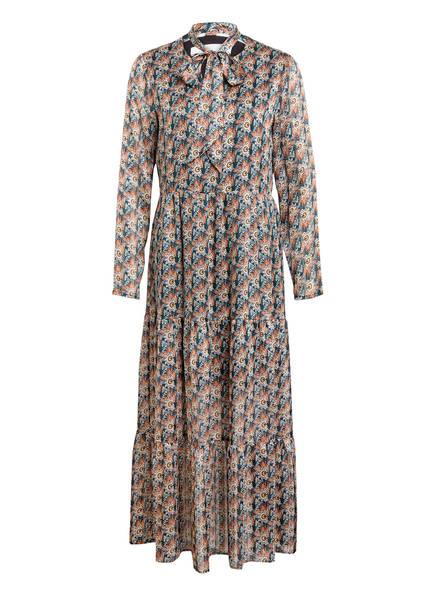Freebird Kleid JOSEPHINE mit Glitzergarn , Farbe: DUNKELGRÜN/ COGNAC/ CREME  (Bild 1)
