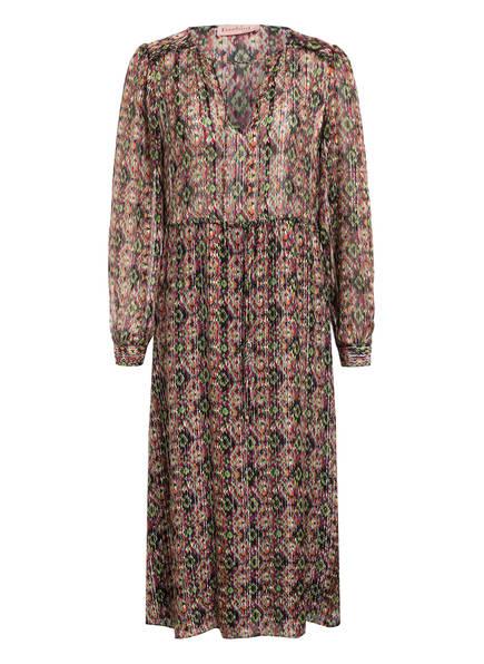 Freebird Kleid ALETTA mit Seide und Glitzergarn, Farbe: SCHWARZ/ HELLOLIV/ DUNKELLILA (Bild 1)