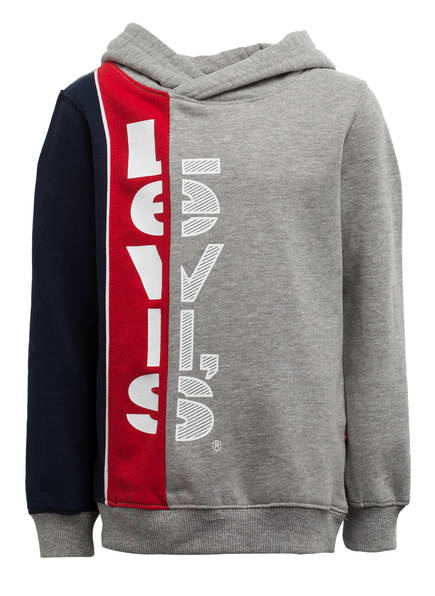 Levi's® Hoodie , Farbe: GRAU/ DUNKELBLAU/ ROT (Bild 1)