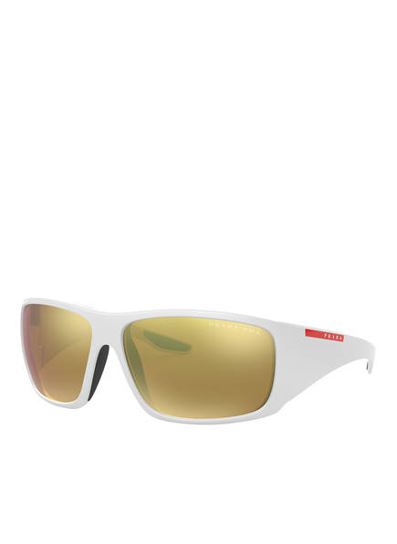 PRADA Sonnenbrille PS 04VS, Farbe:  AAI5N2 - WEISS/ GOLD POLARISIERT (Bild 1)
