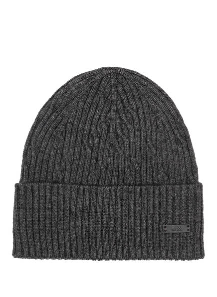BOSS Mütze MERCURINO, Farbe: DUNKELGRAU MELIERT (Bild 1)