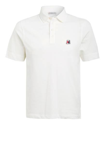 MONCLER Piqué-Poloshirt, Farbe: CREME (Bild 1)