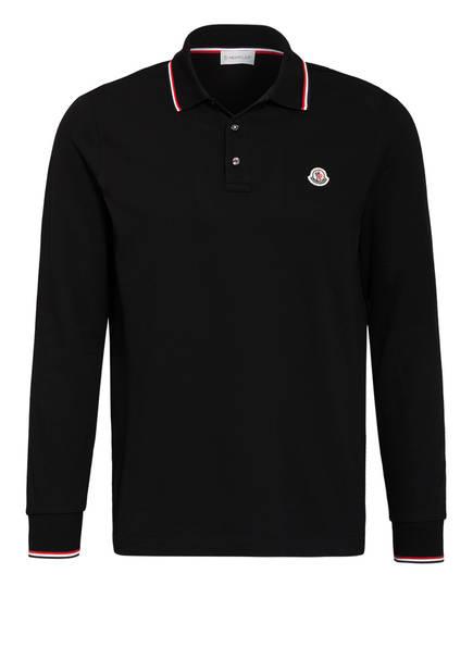 MONCLER Piqué-Poloshirt, Farbe: SCHWARZ (Bild 1)