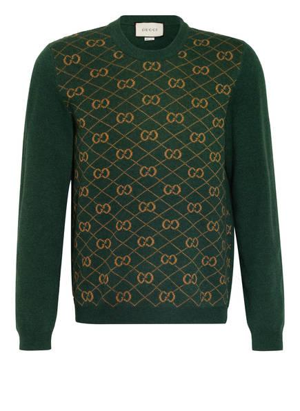 GUCCI Pullover , Farbe: GRÜN/ CAMEL (Bild 1)