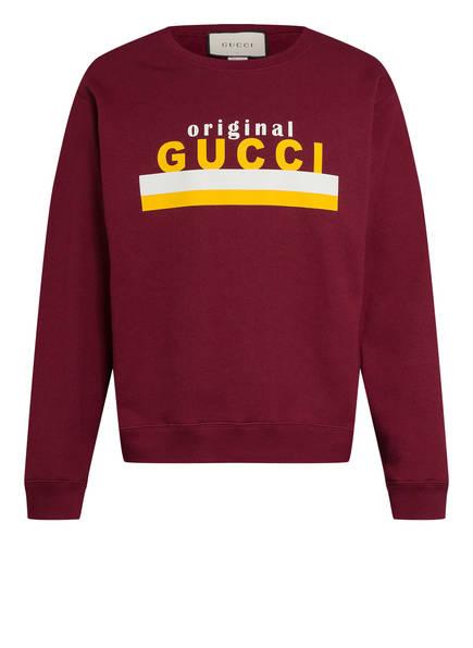 GUCCI Sweatshirt, Farbe: DUNKELROT (Bild 1)