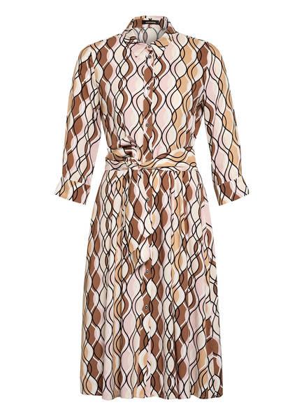 MORE & MORE Hemdblusenkleid mit 3/4-Arm, Farbe: HELLGELB/ NUDE/ BRAUN (Bild 1)