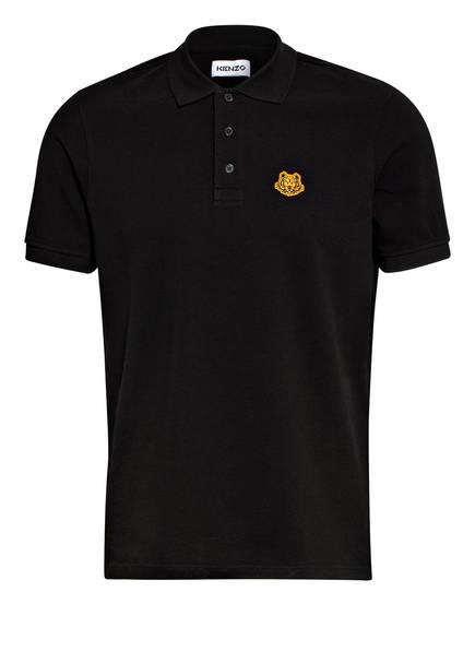 KENZO Piqué-Poloshirt TIGER CREST, Farbe: SCHWARZ (Bild 1)