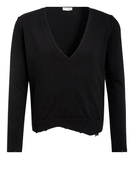 SAINT LAURENT Cashmere-Pullover, Farbe: SCHWARZ (Bild 1)