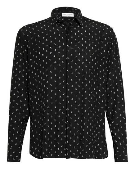 SAINT LAURENT Seidenhemd Comfort Fit, Farbe: SCHWARZ/ WEISS (Bild 1)