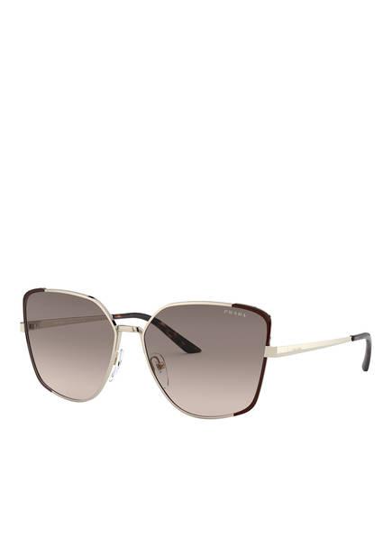 PRADA Sonnenbrille PR 60XS, Farbe: KOF3D0 - GOLD/ BRAUN/ BRAUN VERLAUF (Bild 1)