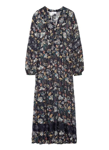 darling harbour Kleid mit Spitzenbesatz, Farbe: DUNKELBLAU/ WEISS/ PETROL (Bild 1)
