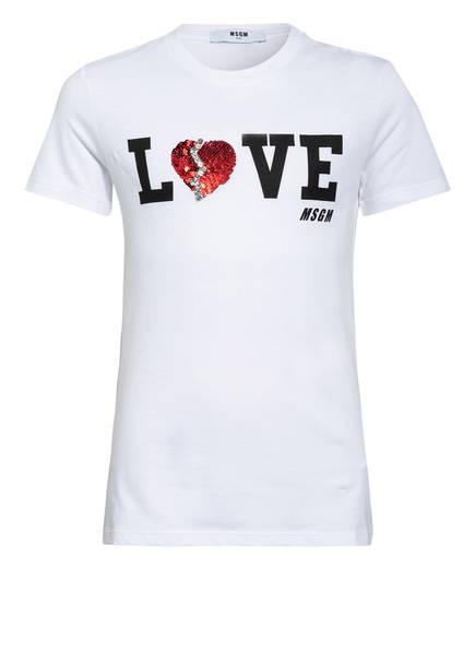MSGM KIDS T-Shirt mit Schmucksteinbesatz, Farbe: WEISS (Bild 1)