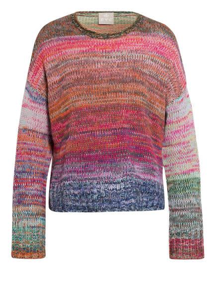 FTC CASHMERE Cashmere-Pullover, Farbe: PINK/ BLAU/ ORANGE (Bild 1)