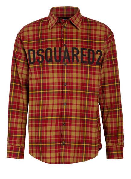 DSQUARED2 Hemd Comfort Fit, Farbe: ROT/ CAMEL (Bild 1)