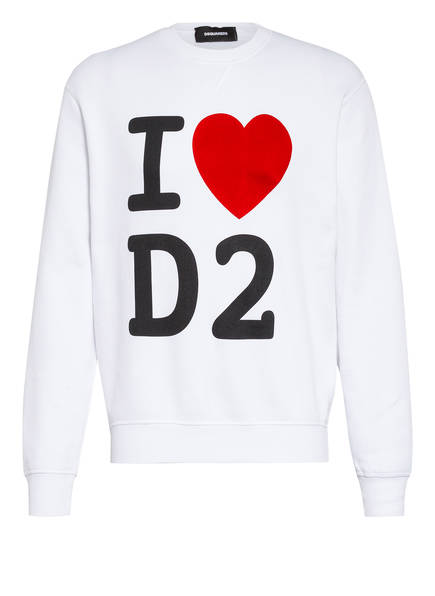 DSQUARED2 Sweatshirt, Farbe: WEISS (Bild 1)