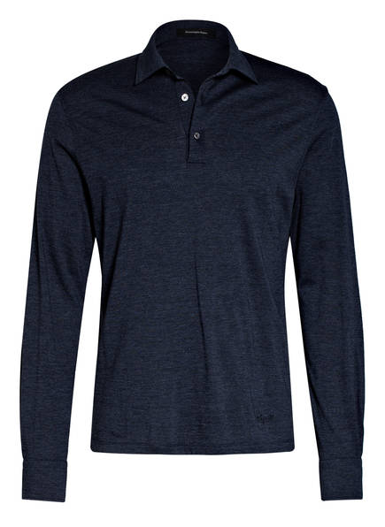 Ermenegildo Zegna Jersey-Poloshirt, Farbe: DUNKELBLAU MELIERT (Bild 1)