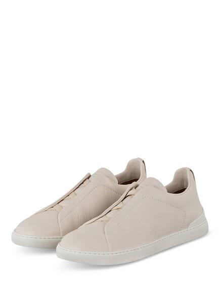 Ermenegildo Zegna Slip-on-Sneaker TRIPLE STITCH, Farbe: WEISS (Bild 1)