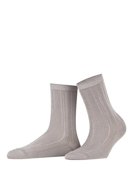 BECKSÖNDERGAARD Socken GLITTER DRAKE mit Glitzergarn , Farbe: HELLGRAU/ SILBER (Bild 1)