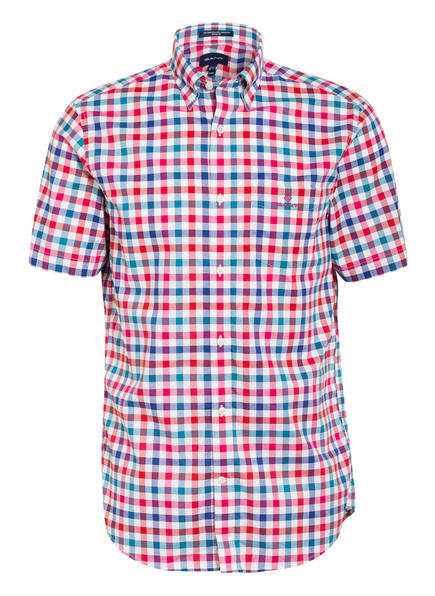 GANT Halbarm-Hemd Regular Fit, Farbe: PINK/ BLAU/ WEISS (Bild 1)