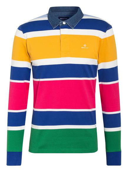 GANT Jersey-Poloshirt Regular Fit , Farbe: BLAU/ DUNKELGELB/ PINK (Bild 1)
