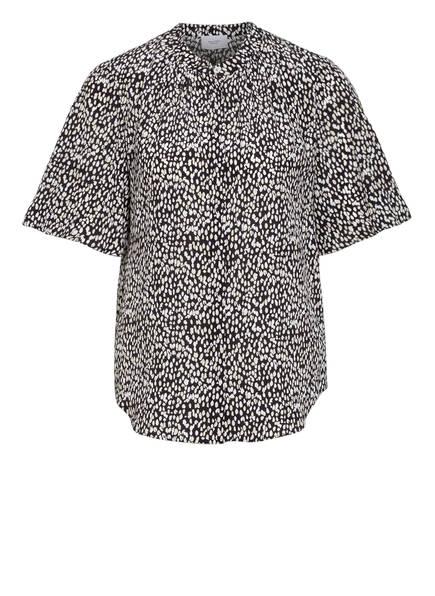 Marc O'Polo Pure Hemdbluse aus Seide, Farbe: SCHWARZ/ WEISS (Bild 1)