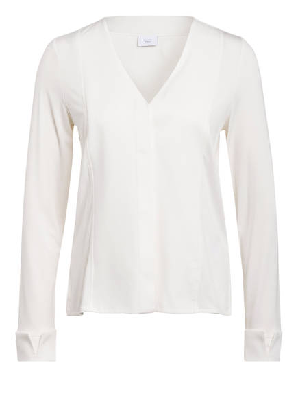 Marc O'Polo Pure Bluse im Materialmix, Farbe: WEISS (Bild 1)