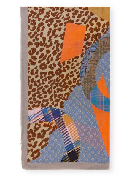 CODELLO Schal , Farbe: BLAU/ BRAUN/ ORANGE (Bild 1)