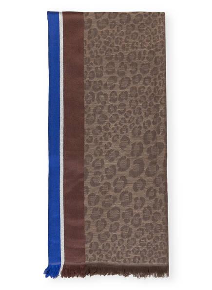 CODELLO Schal, Farbe: BLAU/ BRAUN/ SILBER (Bild 1)