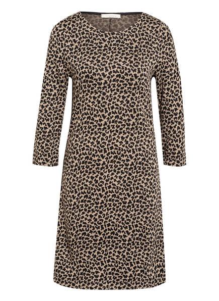 lilienfels Kleid mit 3/4-Arm und Galonstreifen, Farbe: BEIGE/ SCHWARZ (Bild 1)